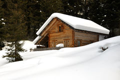 Snowy cottage Royalty Free Stock Photo