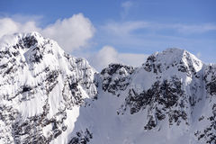 Snowy crags of Corte range, Orobie Royalty Free Stock Photography