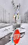 Snowy Crossing Royalty Free Stock Photo