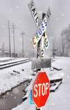 Snowy Crossing Royalty Free Stock Photo