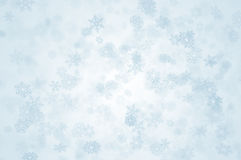 Snowy day. Snowflakes falling from the sky Stock Photos