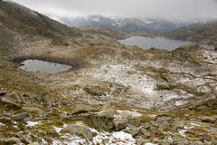 Snowy day - Pyrenees Royalty Free Stock Images