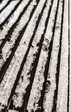 Snowy deck Royalty Free Stock Photo