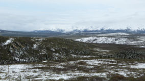 Snowy Denali Lanscape Stockfoto