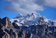Snowy desert mountains Royalty Free Stock Images