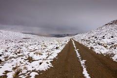 Snowy Desert Road Stock Image