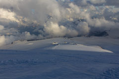 Snowy and deserted slopes of Mount Elbrus Stock Photography