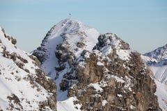 Snowy-Deutschalpen Lizenzfreie Stockfotos