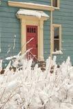 Snowy Door 2 Royalty Free Stock Photos