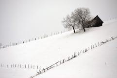 Snowy-Dorf Lizenzfreie Stockfotografie