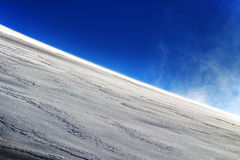 Snowy downhill Royalty Free Stock Photos