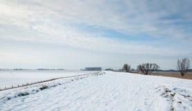 Snowy Dutch landscape Royalty Free Stock Photography