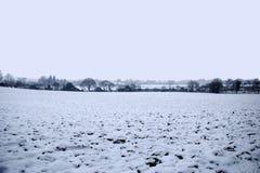 Snowy-englische Winterlandschaft Stockfotografie