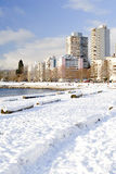 Snowy English Bay - Vancouver, Canada Royalty Free Stock Photo