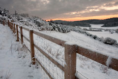 Snowy English Landscape Royalty Free Stock Photos