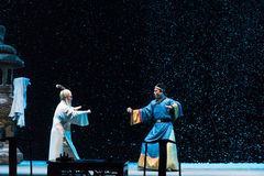 "On a snowy evening confrontation-Shanxi Operatic""Fu Shan to Beijing"" Royalty Free Stock Photos"
