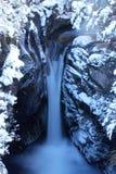 Snowy fällt in Nationalpark Tongariro Stockbilder