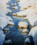 Snowy Fairytale River Royalty Free Stock Photography