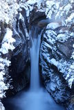 Snowy falls in Tongariro National Park. With mazed falling water Stock Images