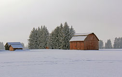 Snowy Farm 2 Stock Images