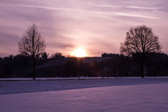 Snowy-Feld Stockfotos