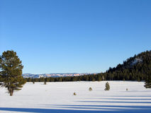 Snowy-Feld in Utah Stockbild