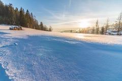 Snowy-Feld, Zakopane, Polen Lizenzfreies Stockbild