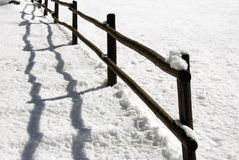 Snowy fence Stock Photo