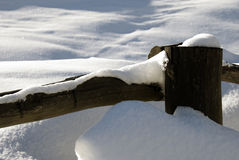 Snowy fence Stock Photos