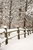 Snowy Fence Stock Photography