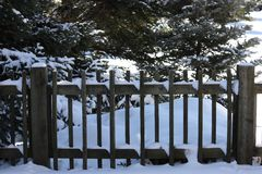 Snowy fence Royalty Free Stock Photos