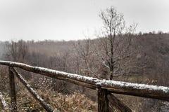 Snowy fence Stock Photos