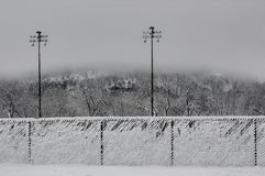 Snowy fences Royalty Free Stock Images