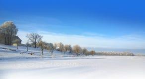 Free Snowy Field. Sunny Frosty Day. Snowfall. Winter Landscape Stock Photos - 85965493