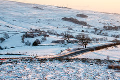 Snowy fields in England Royalty Free Stock Photos