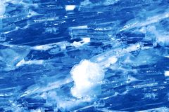 Snowy floating ice formations Royalty Free Stock Photography