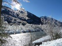 Snowy-Fluss Stockbilder