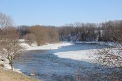 Snowy-Fluss Stockfotografie