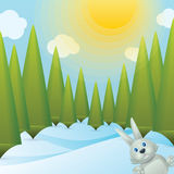 Snowy Forest Glade Royalty Free Stock Photos