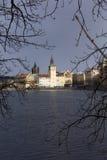 Snowy freeze Prague Old Town, Czech republic Stock Photography