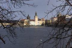 Snowy freeze Prague Old Town, Czech republic Stock Image