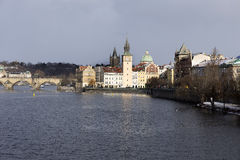 Snowy freeze Prague Old Town, Czech republic Royalty Free Stock Images