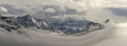 Snowy French Alps Royalty Free Stock Photos