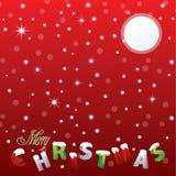 Snowy-frohe Weihnachten Lizenzfreie Stockfotos