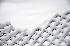 Snowy frozen fence background Royalty Free Stock Photography