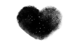 Snowy Frozen Heart Window With Luma Matte. Frozen Valentines heart animation with falling snow inside. Luma matte for custome background design included stock video footage