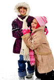 Snowy Fun Stock Photo