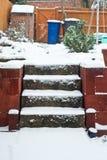 Snowy garden Royalty Free Stock Photos
