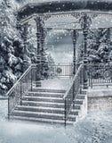 Snowy-Gazebo Lizenzfreie Stockbilder