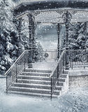 Snowy gazebo Royalty Free Stock Images